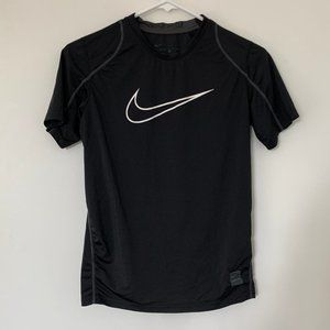 NIKE PRO BLACK SPORT DRY-FIT TEE WHITE CHECK